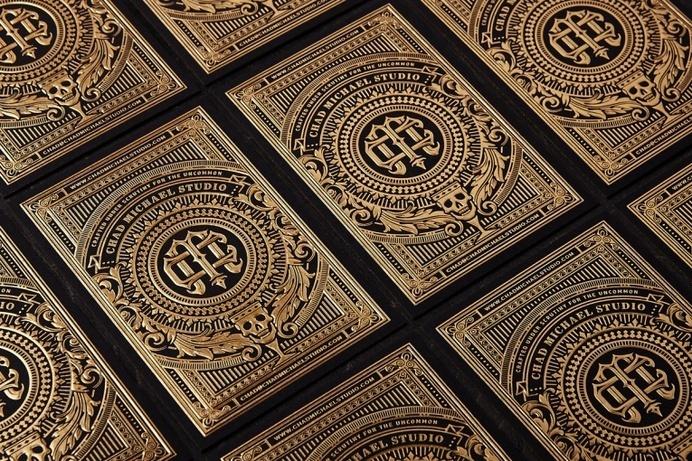 Gold Foil Business Card by Chad Michael - JOQUZ #branding #business #card #design #gold #cards #foil