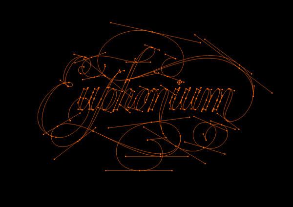 WOTD: Euphonium on Behance #calligraphy #lettering #illustrator #custom #type #typography