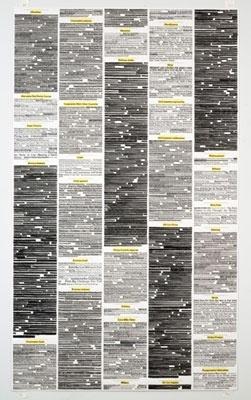 A.J. Bocchino | Artwork | New York Times Headlines (1973 Oil Embargo) #news #bocchino #aj #art #capitalism #logo