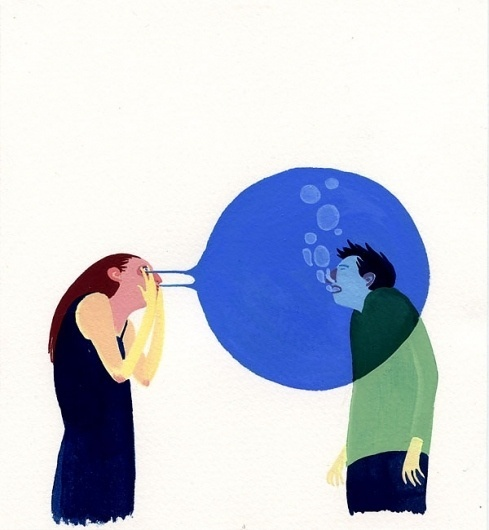 Doing Fine » Blog Archive #bubble #davis #eleanor #eye #painting #art