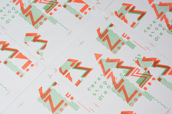 Christmas Poster printed by risograph #christmas #card #risograph #poster