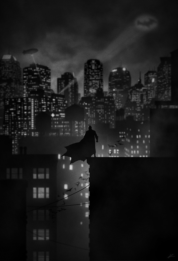 Noir Series #dc #gotham #gothic #knight #batman #illustration #comics #dark
