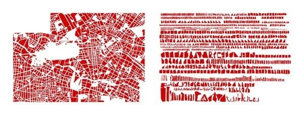 armelle caron tout bien rangé #design #conceptual #graphic #map #berlin