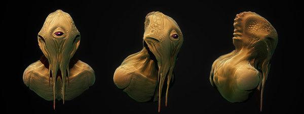 FUCK YEAH CONCEPT ART #alien #head #illustration #concept #painting #art #monster