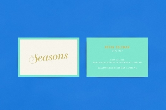 Seasons Entertainment - Studio Sammut #business #branding #identity #logo #cards