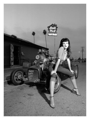 david-perry-1950-s-retro-doll-hut-amanda.jpg 366×488 pixels #white #girl #hotrod #black #and