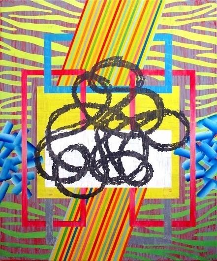 Dan+Bina_Tazmania_2009+copy.jpg (image) #abstract #bina #arcylic #color #dan #box #zebra #painting #art #canvas