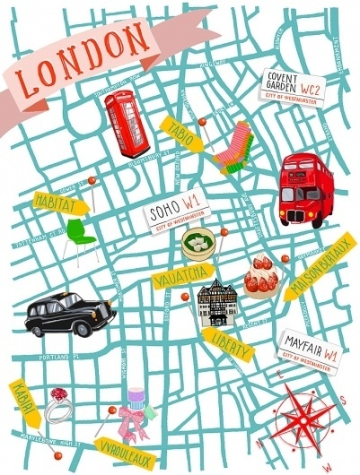 KRISATOMIC #london #illustration #map