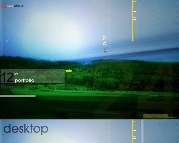 Serene Desktop #desktop #field #sky #poster #joshuaz #forest