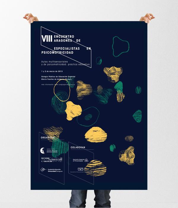 VIII Encuentro Andorra #affiche #universidad #university #orange #black #two #colors #poster #cartel #green