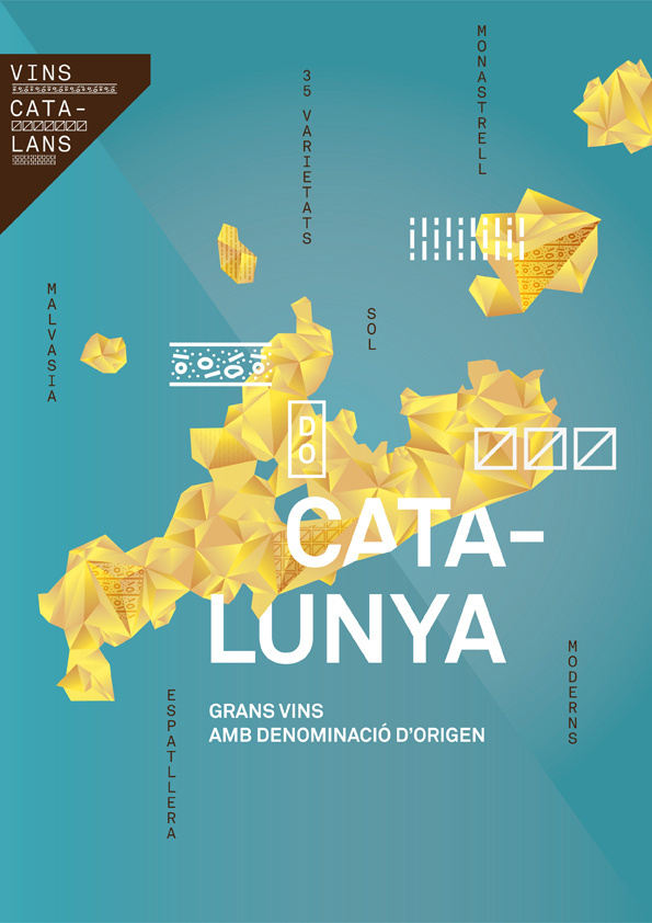 Catalan wines by toormix on Behance #poster #wine #design #branding