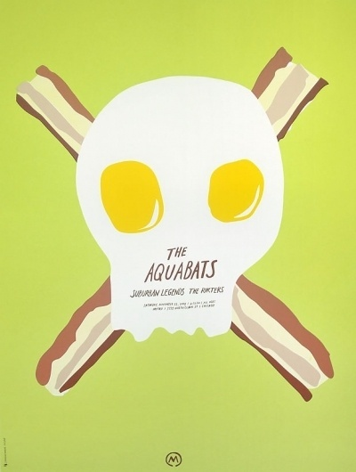 The Aquabats | Sonnenzimmer #eggs #bacon #aquabats #poster