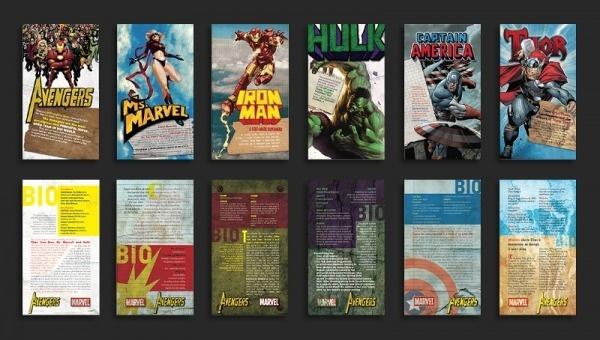 Avengers Collectable Cards - ERICKMELENDEZ #lettering #print #avengers #marvel #typography