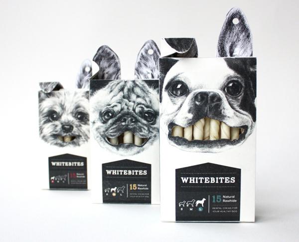 Whitebites Package Design #packaging #pets #design