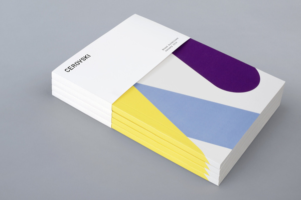 Brochure for print production studio Cerovski designed by Bunch #print