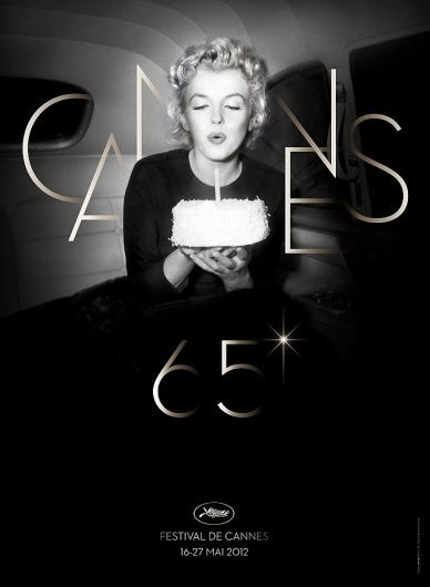 Marilyn Monroe Blows Out The Candle On The Poster For The 65th Cannes Film Festival | The Playlist #cannes #festival #cinema #poster #film #marilyn #typography