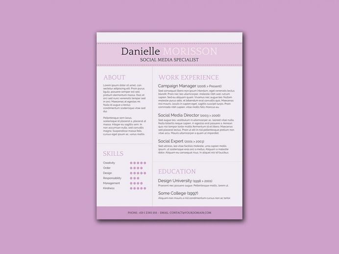 Free Classic Word Resume Template with Clean Design