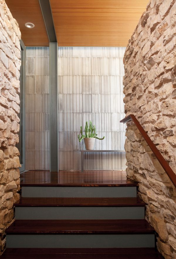 balcones house striated concrete wall #architecture