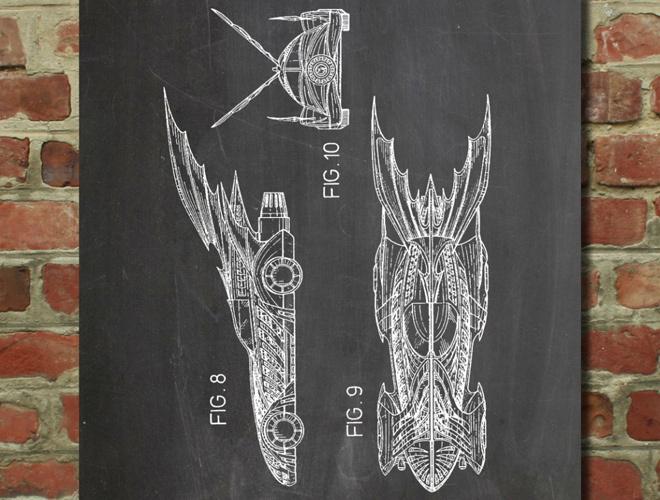 batman batmobile wall art poster #dc #white #diagram #print #design #black #batman #patent #bat #illustration #mobile #poster #and #blue #comics #car