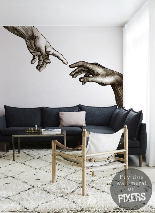Creation of Adam #interior #mural #design #decor #home #wall #architecture #art