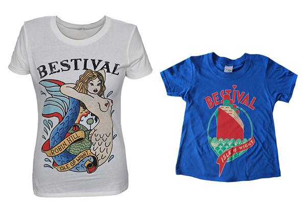 Bestival t-shirts #festival #design #shirt #illustration #typograph #shirts