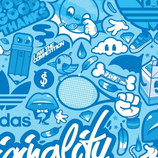 568c19887c65 Adidas Originals  Celebrate Originality on the Behance Network  graffiti   illustration  sports