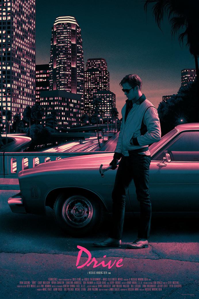 Drive Screenprint Poster created by Rory Kurtz
