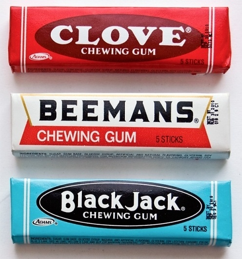 Observed: Chewing Gum Packaging | Andy Mangold #old #packaging #gum #retro #candy #vintage