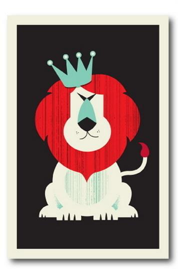 Lion by Vahalla Studios #illustration #lion #king #poster