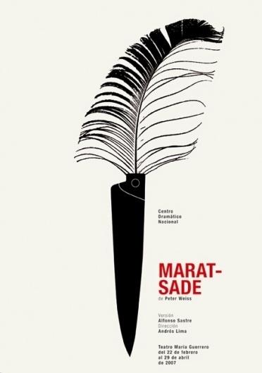 CDN : Isidro Ferrer #ferrer #huesca #spain #theatre #plume #isidro #illustration #poster #knife
