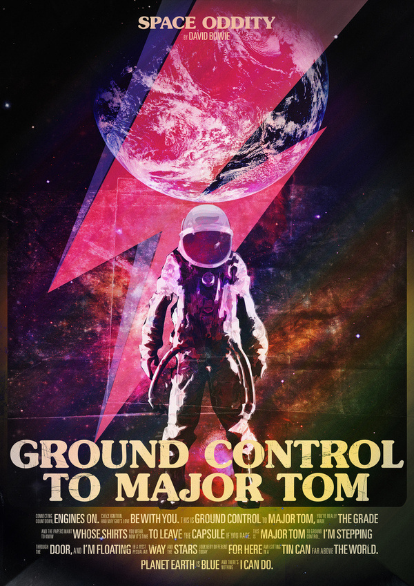 Space Oddity #universe #itc #serif #gothic #space #cosmos #poster #oddity #music #bowie