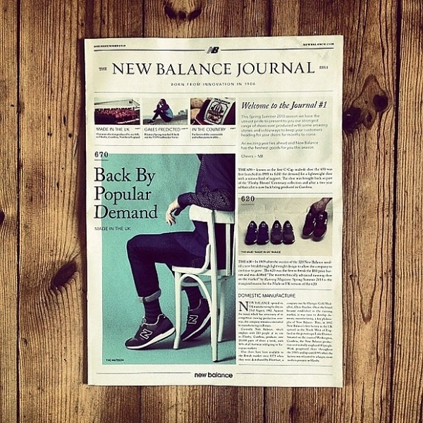 The New Balance Journal Issue 1 #shoes #journal #balance #editorial #new
