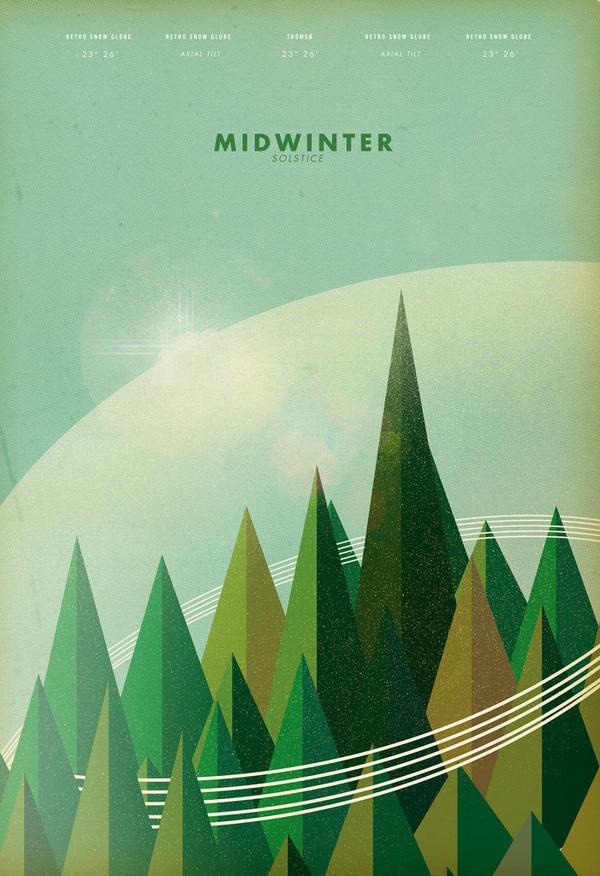 Poster #retro #illustration #nature #architecture #vintage #poster