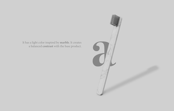 Minimal Toothbrush Alphabet Collection - light