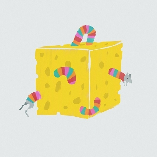 Make Something Cool Every Day 2009 on the Behance Network #stripey #illustration #jumper #cheese