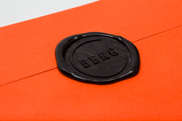 RESTAURANT BERG branding, print #stamp #branding #print #orange #black #logo