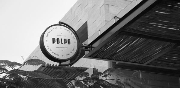 Polpo Restaurant on Behance #mark #restaurant #brand #signage #logo