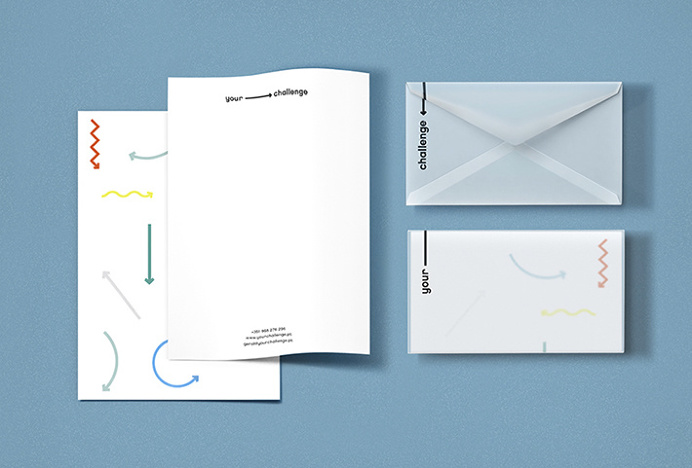 Your Challenge by Studio AH—HA #typography #arrows #logo #logotype #business card