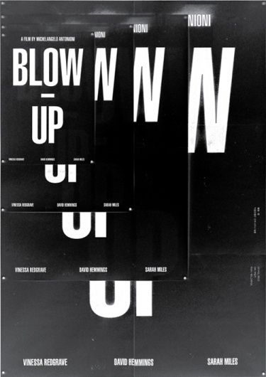 blow-up, redesign project - shin, dokho #movie #poster #typography