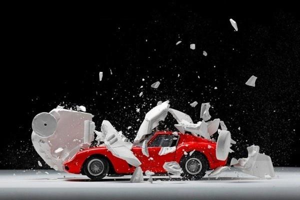 Exploded Cars by Fabian Oefner9 #explosion #car #art