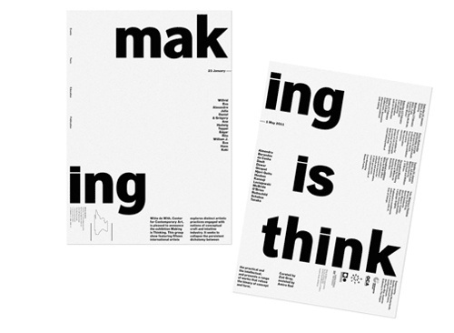Making Is Thinking | Shiro to Kuro #layout #design #graphic #typography
