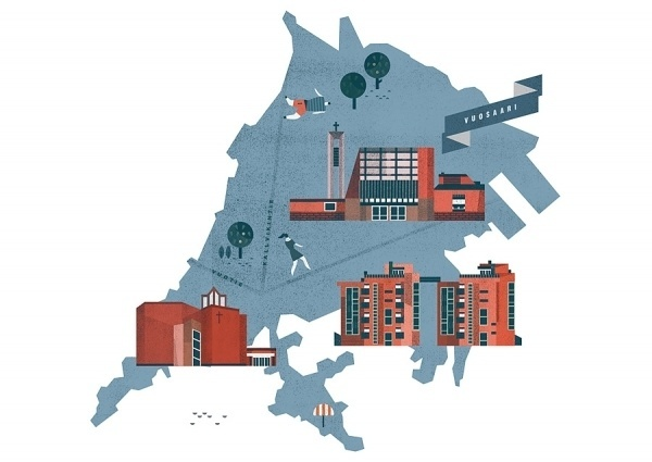 Lotta Nieminen #illustration #scandinavian #map