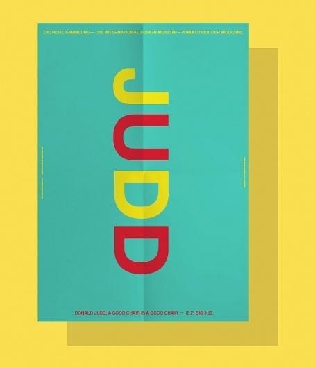 «Donald Judd—A Good Chair is a Good Chair» (2011) by Bureau Mirko Borsche #poster
