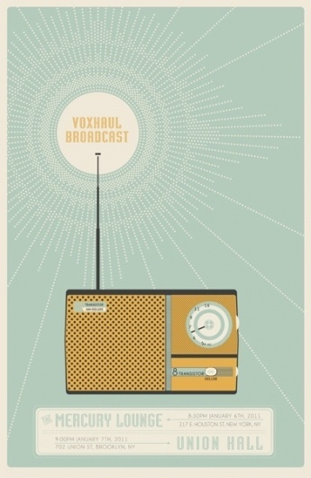 GigPosters.com - Voxhaul Broadcast #illustration #graphic #retro
