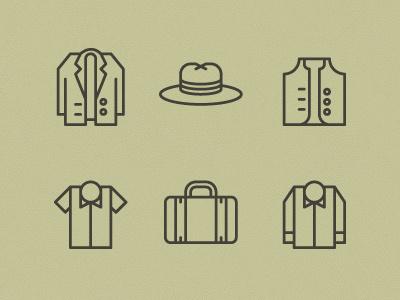 Mens garnments icons #icon #symbol #pictogram