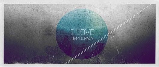 I Love democracy on the Behance Network #print