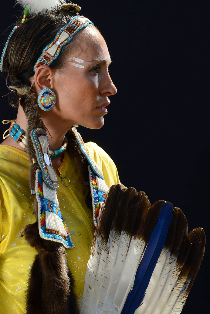 Beautiful Portrait of native american jingle dancer. #portraits #photography #american #native