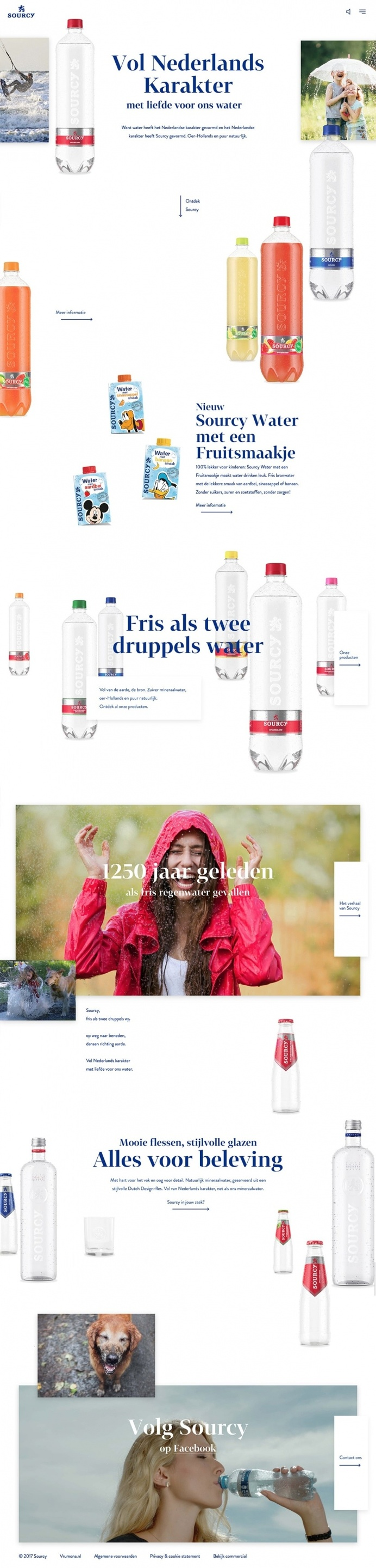 Sourcy - Mindsparkle Mag - Sourcy is a water drink product from the netherlands whose interactive and beautiful website is selected by Minds