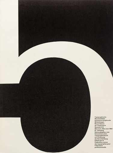 Cover from 1962 Typographische Monatsblätter issue 5/6
