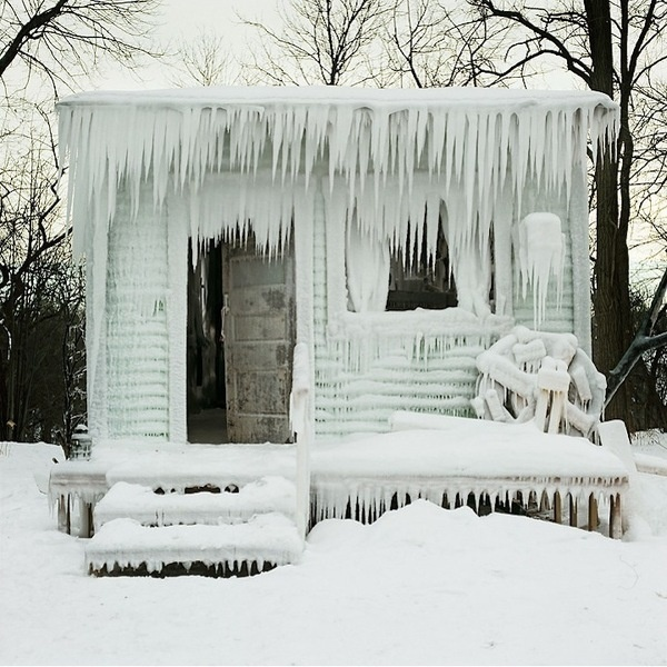 "CJWHO ™ (""Deep North"" Frozen Home by Chris Larson Chris...) #water #frozen #design #photography #architecture #art #ice"